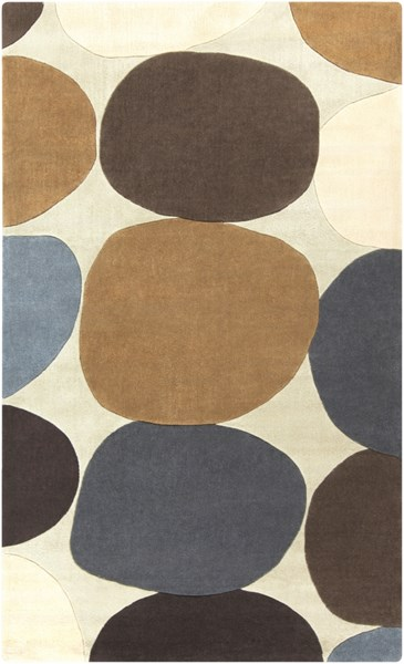 Cosmopolitan Beige Chocolate Gold Polyester Area Rug (L 96 X W 60) COS9203-58