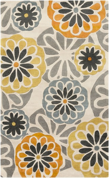 Cosmopolitan Gray Olive Charcoal Polyester Area Rug (L 96 X W 60) COS9206-58