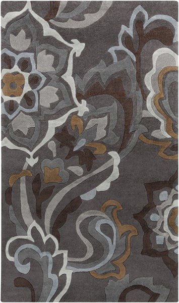 Cosmopolitan Charcoal Olive Gray Polyester Area Rug (L 96 X W 60) COS9210-58
