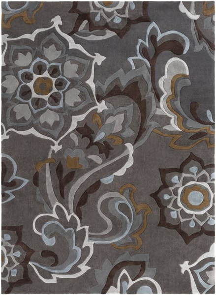 Cosmopolitan Charcoal Olive Gray Polyester Area Rug (L 132 X W 96) COS9210-811