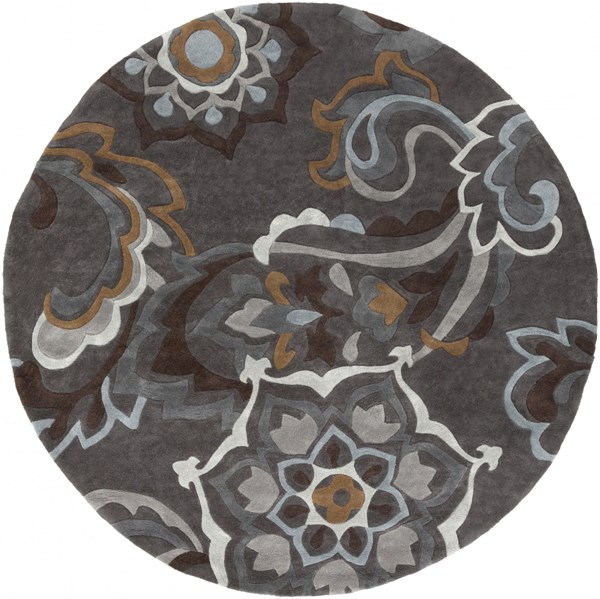Cosmopolitan Charcoal Olive Gray Polyester Area Rug (L 96 X W 96) COS9210-8RD