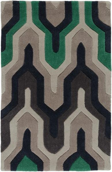 Cosmopolitan Navy Ivory Charcoal Polyester Area Rug (L 36 X W 24) COS9213-23