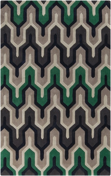 Cosmopolitan Navy Ivory Charcoal Polyester Area Rug (L 96 X W 30) COS9213-58