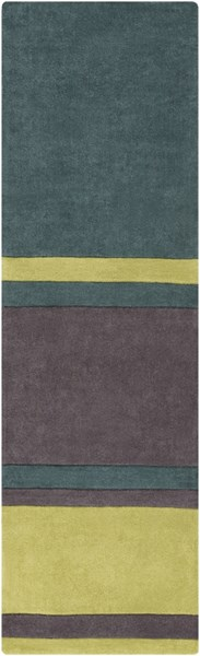 Cosmopolitan Green Lime Charcoal Polyester Runner (L 96 X W 30) COS9214-268