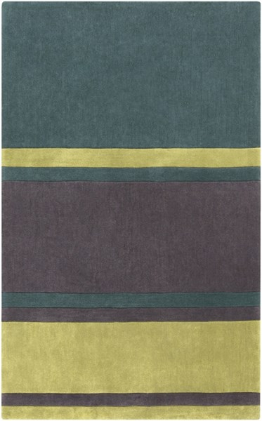 Cosmopolitan Green Lime Charcoal Polyester Area Rug (L 96 X W 60) COS9214-58