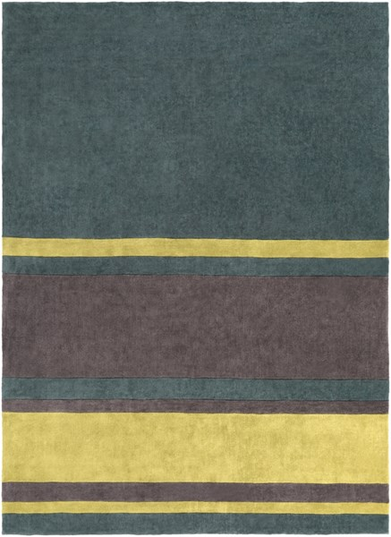 Cosmopolitan Green Lime Charcoal Polyester Area Rug (L 132 X W 96) COS9214-811