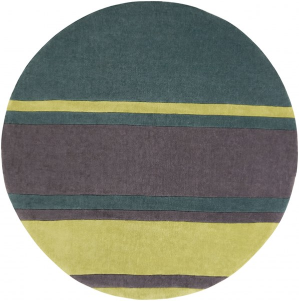 Cosmopolitan Green Lime Charcoal Polyester Area Rug (L 96 X W 96) COS9214-8RD