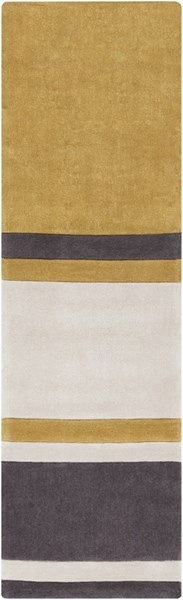 Cosmopolitan Beige Gold Charcoal Polyester Runner (L 96 X W 30) COS9215-268