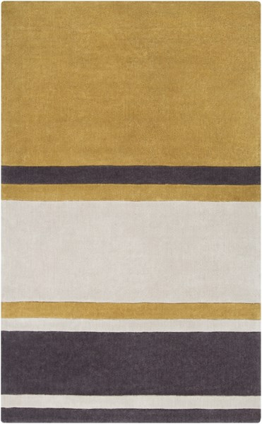 Cosmopolitan Beige Gold Charcoal Polyester Area Rug (L 96 X W 60) COS9215-58