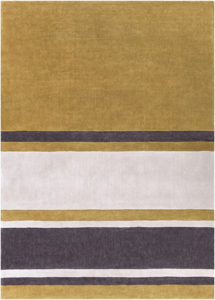 Cosmopolitan Beige Gold Charcoal Polyester Area Rug (L 132 X W 96) COS9215-811