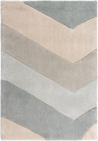 Cosmopolitan Sky Blue Ivory Gray Polyester Area Rug (L 36 X W 24) COS9216-23