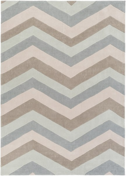 Cosmopolitan Sky Blue Ivory Gray Polyester Area Rug (L 132 X W 96) COS9216-811