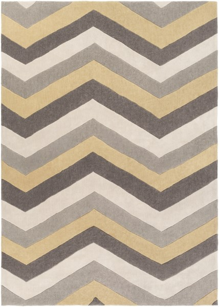 Cosmopolitan Butter Light Gray Polyester Area Rug (L 132 X W 96) COS9217-811