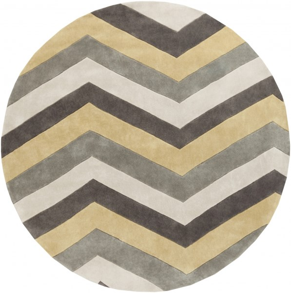 Cosmopolitan Butter Light Gray Polyester Area Rug (L 96 X W 96) COS9217-8RD