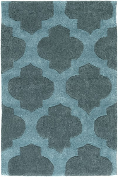 Cosmopolitan Contemporary Teal Polyester Area Rug (L 36 X W 24) COS9225-23