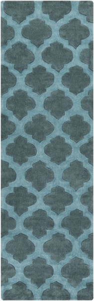Cosmopolitan Contemporary Teal Polyester Runner (L 96 X W 30) COS9225-268