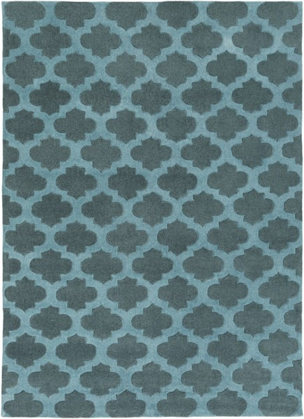 Cosmopolitan Contemporary Teal Polyester Area Rug (L 132 X W 96) COS9225-811