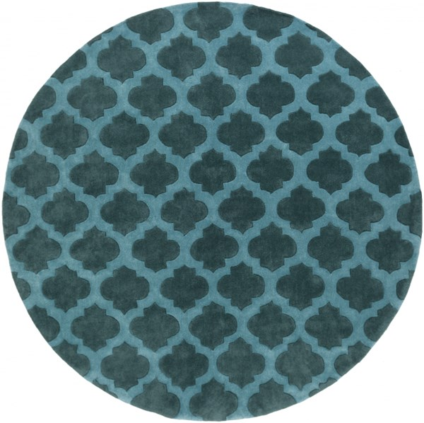 Cosmopolitan Contemporary Teal Polyester Area Rug (L 96 X W 96) COS9225-8RD