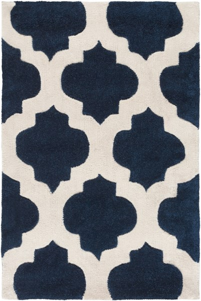 Cosmopolitan Contemporary Navy Ivory Polyester Area Rug (L 36 X W 24) COS9226-23