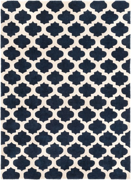Cosmopolitan Navy Ivory Polyester Area Rug (L 132 X W 96) COS9226-811