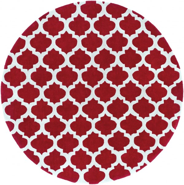 Cosmopolitan Light Gray Cherry Polyester Round Area Rug (L 96 X W 96) COS9238-8RD