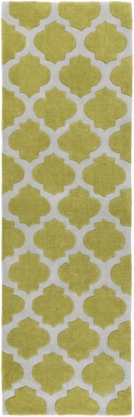 Cosmopolitan Contemporary Gray Lime Polyester Runner (L 96 X W 30) COS9240-268
