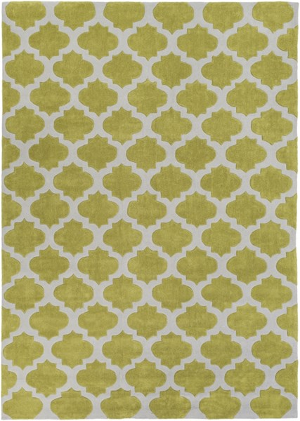 Cosmopolitan Contemporary Gray Lime Polyester Area Rug (L 132 X W 96) COS9240-811