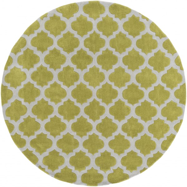 Cosmopolitan Contemporary Gray Lime Polyester Area Rug (L 96 X W 96) COS9240-8RD