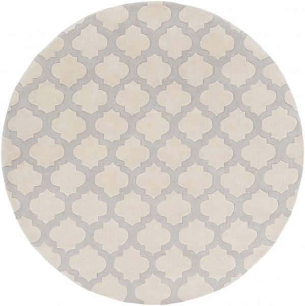 Cosmopolitan Contemporary Gray Beige Polyester Area Rug (L 96 X W 96) COS9243-8RD