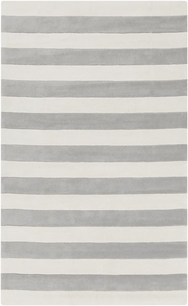 Cosmopolitan Ivory Light Gray Polyester Area Rug (L 96 X W 60) COS9252-58
