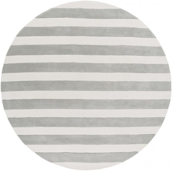 Cosmopolitan Ivory Light Gray Polyester Area Rug (L 96 X W 96) COS9252-8RD