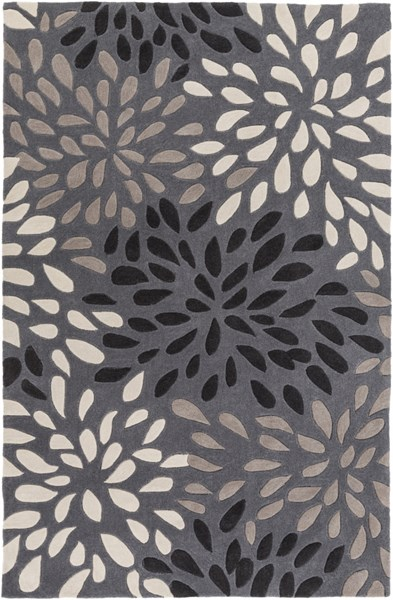 Cosmopolitan Charcoal Taupe Gray Polyester Area Rug (L 96 X W 60) COS9263-58