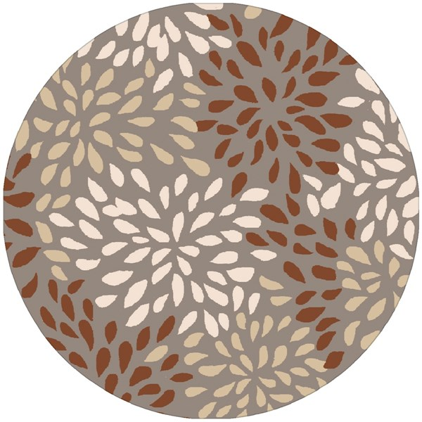 Cosmopolitan Modern Rust Lime Taupe Polyester Area Rug (L 96 X W 96) COS9264-8RD