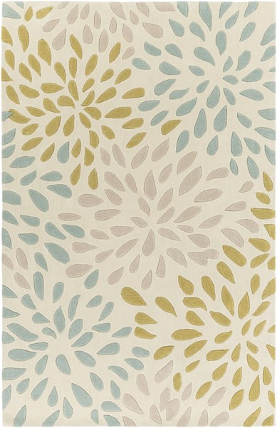 Cosmopolitan Modern Moss Olive Taupe Polyester Area Rug (L 96 X W 60) COS9266-58