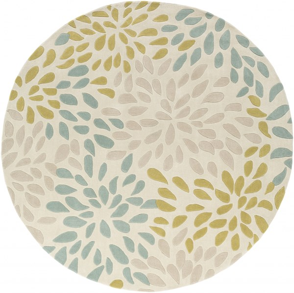 Cosmopolitan Modern Moss Olive Taupe Polyester Area Rug (L 96 X W 96) COS9266-8RD