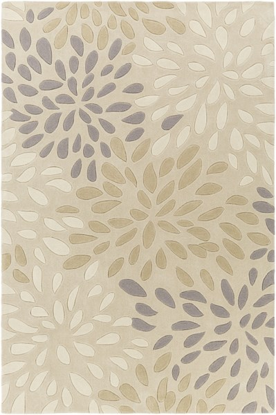Cosmopolitan Light Gray Olive Ivory Polyester Area Rug (L 96 X W 60) COS9267-58
