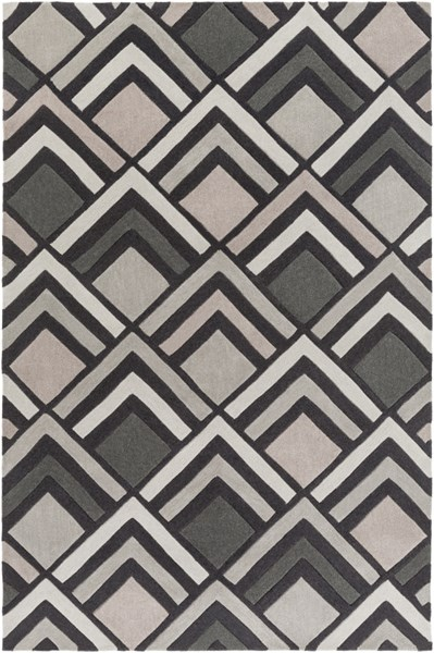 Cosmopolitan Charcoal Gray Taupe Polyester Area Rug (L 96 X W 60) COS9275-58