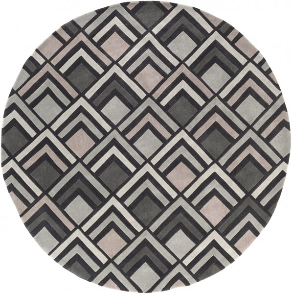 Cosmopolitan Charcoal Gray Taupe Polyester Area Rug (L 96 X W 96) COS9275-8RD