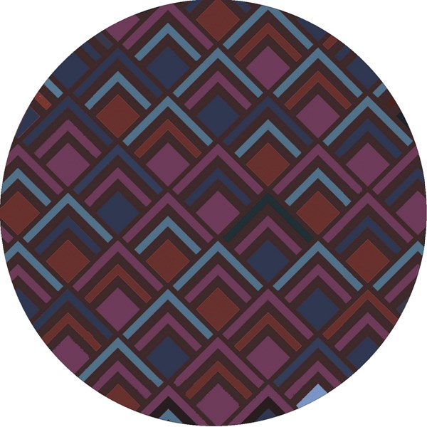Cosmopolitan Chocolate Burgundy Teal Polyester Area Rug (L 96 X W 96) COS9276-8RD