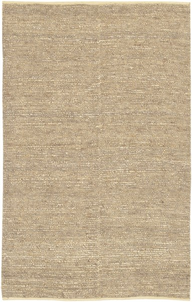Continental Contemporary Beige Fabric Shag Area Rug COT1930-58
