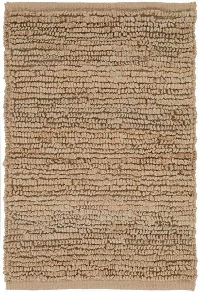 Continental Contemporary Taupe Fabric Shag Area Rug COT1931-23