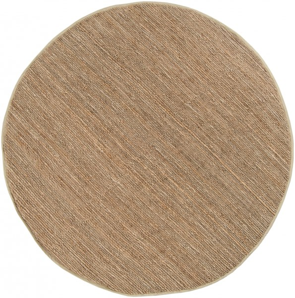 Continental Taupe Jute Round Area Rug - 96 x 96 COT1931-8RD