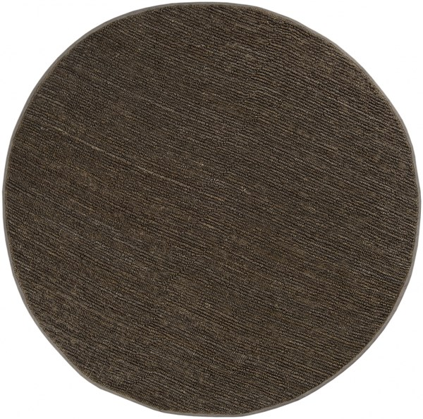 Continental Dark Olive Jute Round Area Rug - 96 x 96 COT1933-8RD