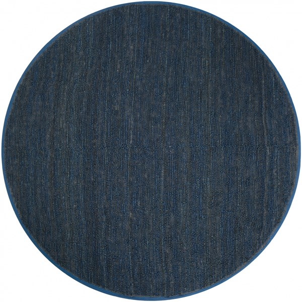 Continental Navy Jute Round Area Rug - 96 x 96 COT1935-8RD