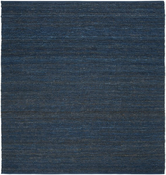 Continental Navy Jute Square Area Rug - 96 x 96 COT1935-8SQ