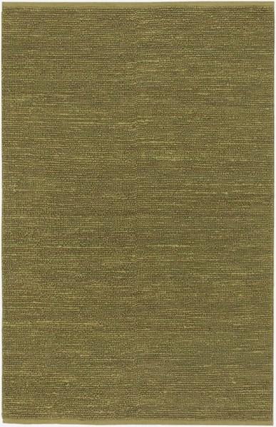 Continental Contemporary Olive Fabric Shag Area Rug COT1940-58