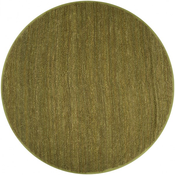 Continental Olive Jute Round Area Rug - 96 x 96 COT1940-8RD