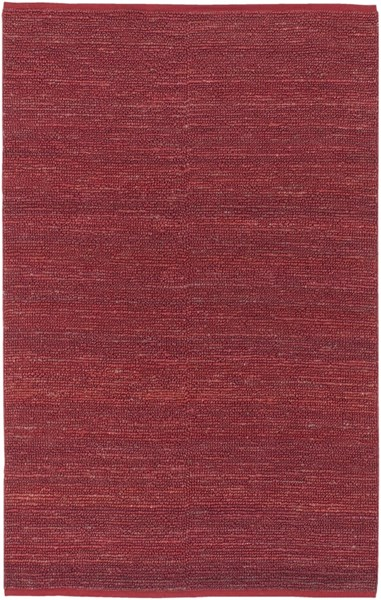Continental Contemporary Burgundy Jute Area Rug (L 96 X W 60) COT1942-58
