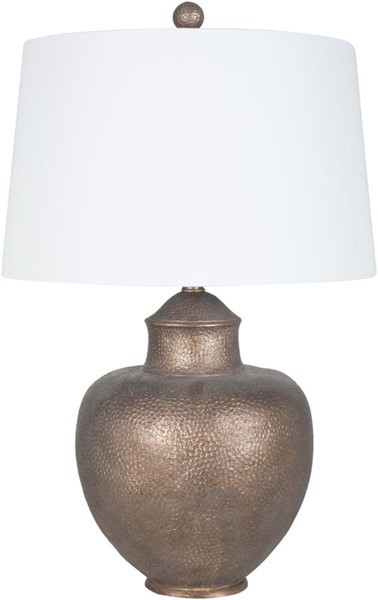 Surya Cooper White Linen Table Lamp - 18x27.50 CPLP-003
