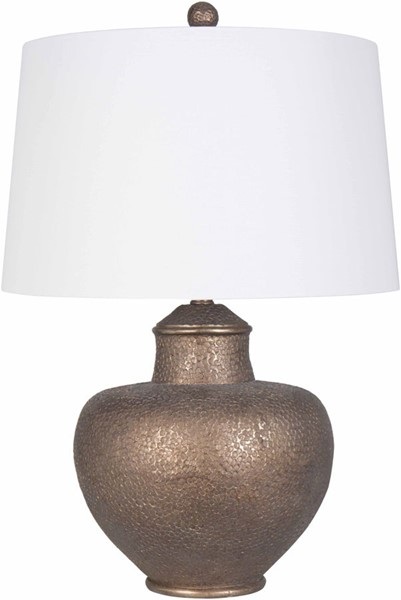 Surya Cooper White Linen Table Lamp - 17x26 CPLP-004